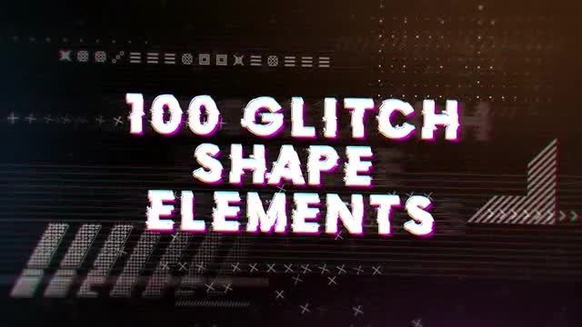 Glitch Elements Pack: After Effects Templates