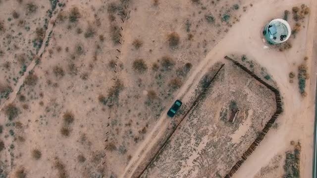 Black Car In The Desert: Stock Video