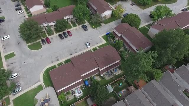 Aerial View Over Housing Complex: Stock Video