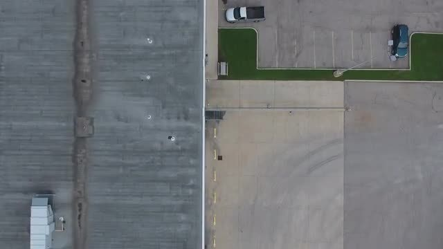 Aerial Shot Of Industrial Building: Stock Video