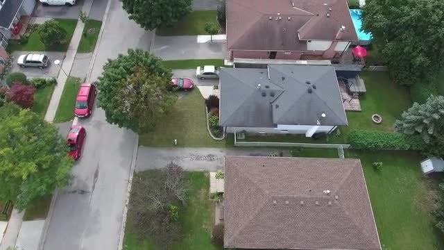 Aerial Shot Of Neighborhood: Stock Video