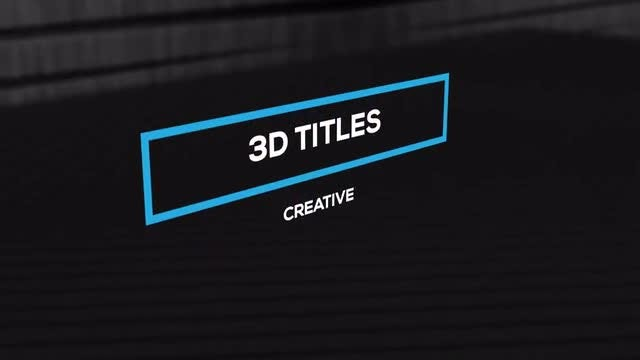 3D Simple Titles MOGRT: Motion Graphics Templates