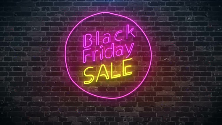 Black Friday Sale Neon Sign: Stock Motion Graphics