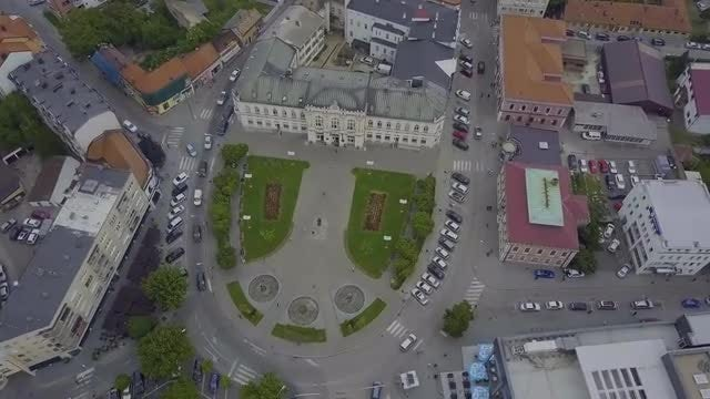 Aerial View Of City Park: Stock Video