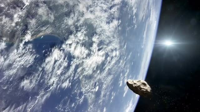 Asteroid Impacting Planet Earth: Stock Motion Graphics