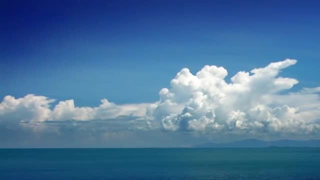 Clouds And Sea Time Lapse: Stock Video
