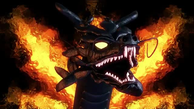 Chinese Dragon Head VJ Loop: Stock Motion Graphics
