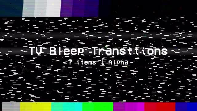 TV Bleep Transitions: Stock Motion Graphics