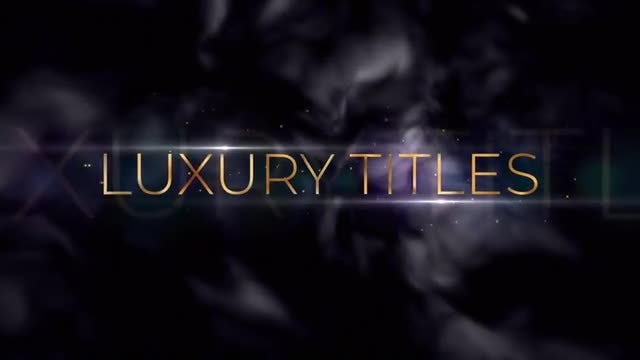 Golden Luxury Titles: After Effects Templates