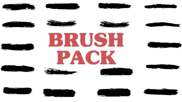 Brush Strokes 4K Pack: Stock Motion Graphics