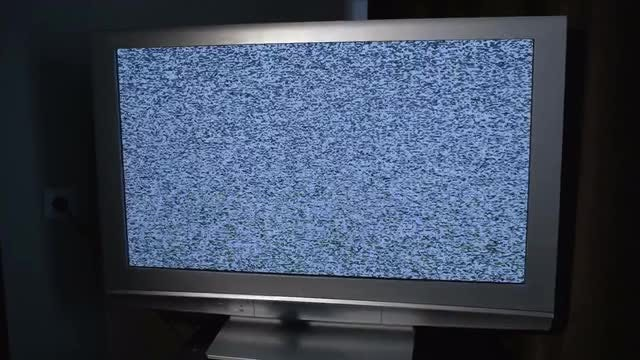 TV Screen With Blue Noise: Stock Video