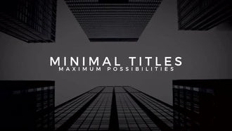 Minimal Titles: After Effects Templates