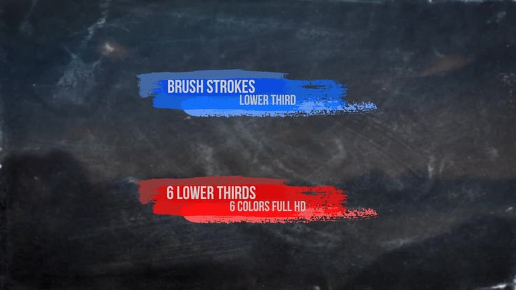 Brush Strokes Lower Third: Stock Motion Graphics