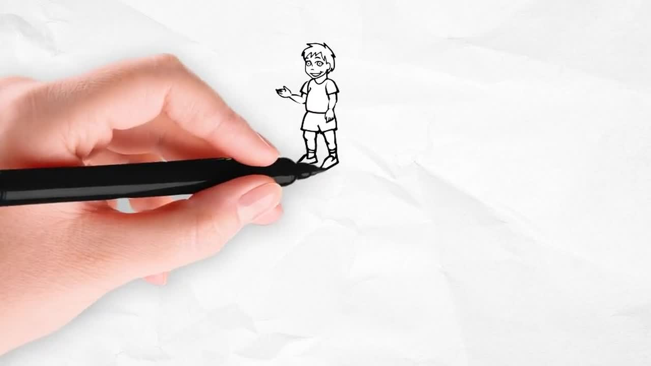Doodle Animation - Little Kid Character - After Effects Templates