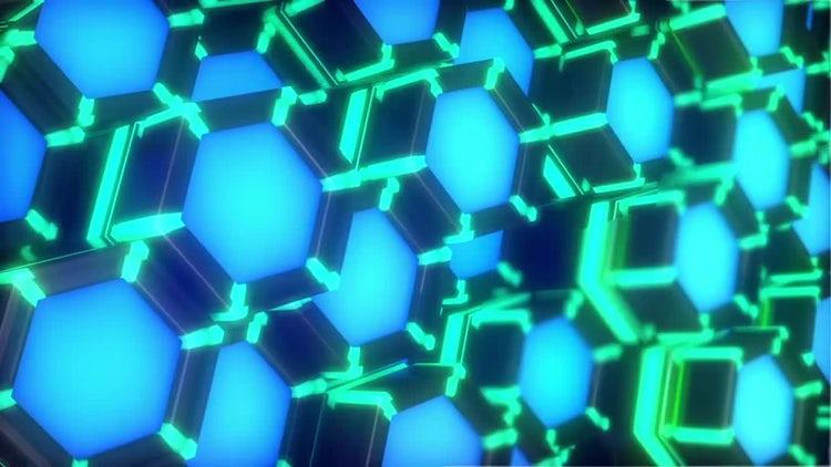 Neon Hexagons VJ Loop Side: Motion Graphics
