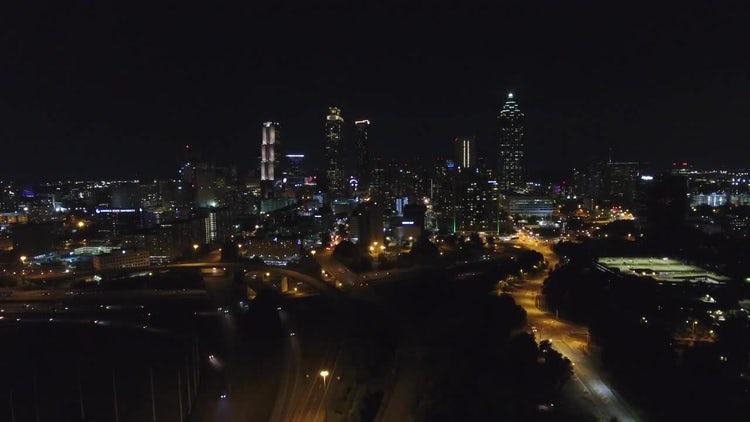 Atlanta Skyline Zoom Out: Stock Video
