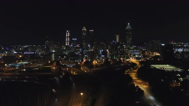 Atlanta Skyline Zoom Out: Stock Video