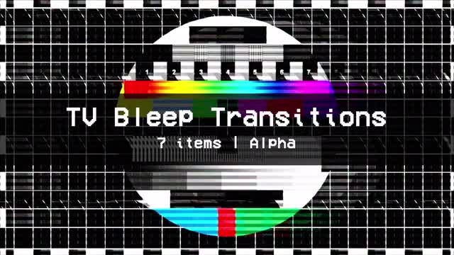 TV Bleep Transitions Pack: Stock Motion Graphics