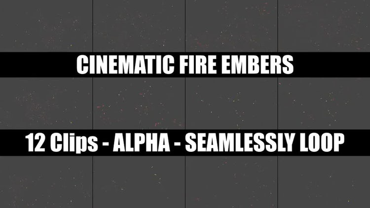 Cinematic Fire Embers: Stock Motion Graphics