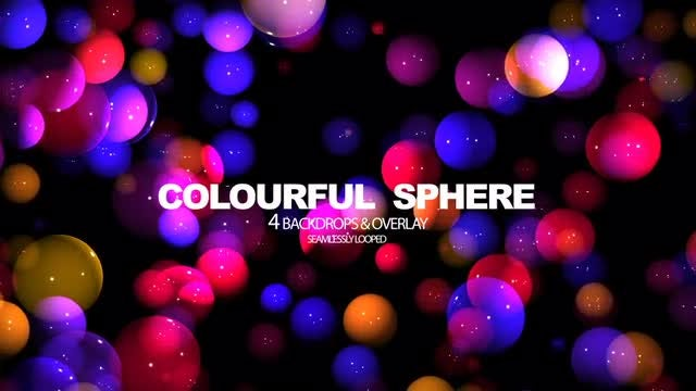 Colourful Sphere: Stock Motion Graphics