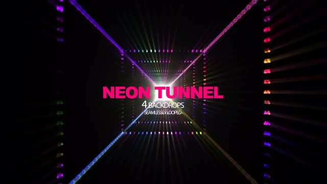 Neon Tunnel: Stock Motion Graphics