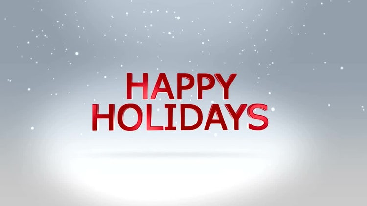 Happy Holidays: After Effects Templates