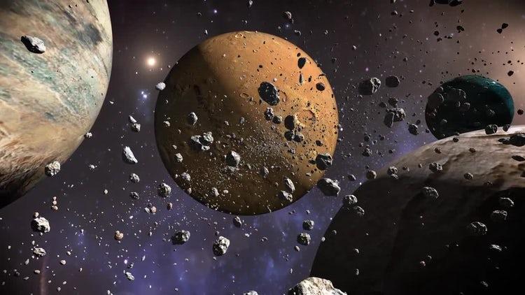 Planets & Meteorites: Stock Motion Graphics