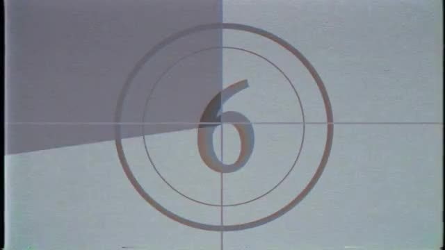 VHS Gray-Theme Countdown: Stock Motion Graphics