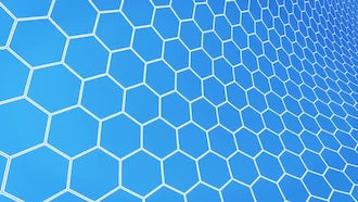 Hexagons Light Background: Motion Graphics