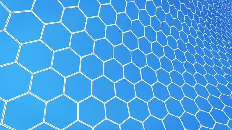 Hexagons Light Background: Stock Motion Graphics