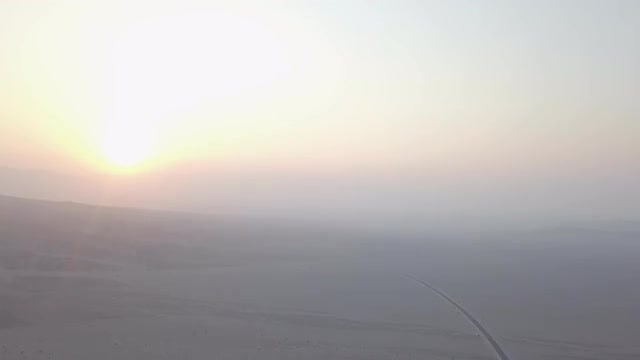 Foggy Sunrise In Death Valley: Stock Video
