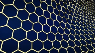 Hexagons Dark Background: Motion Graphics