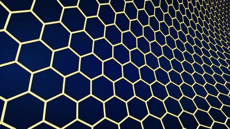 Hexagons Dark Background: Motion Graphics