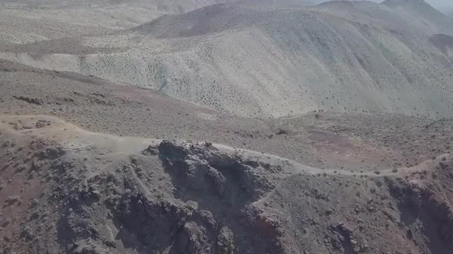 Mountainous Terrain Behind Death Valley: Stock Video