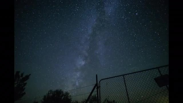 Dramatic, Starry Night Sky: Stock Video