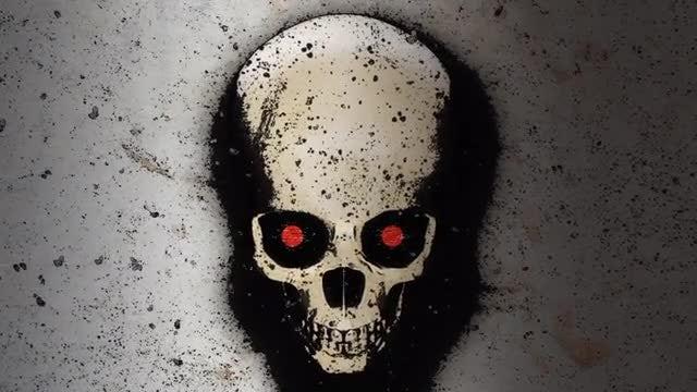 Comic Skull Background: Stock Motion Graphics