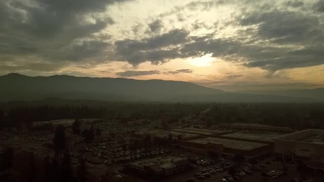 Sunset Near The Mountains: Stock Video