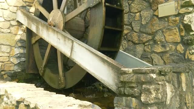Closeup Of Irish Waterwheel: Stock Video