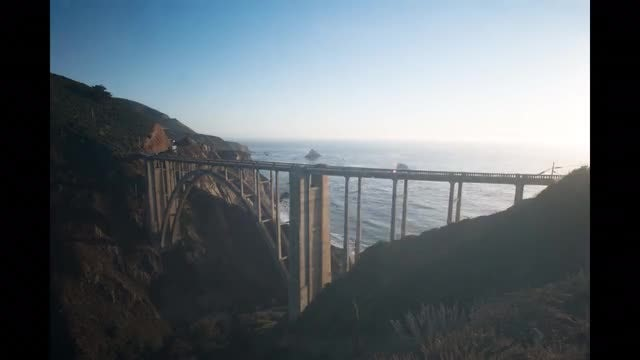 Time Lapse Of Bixby Bridge: Stock Video