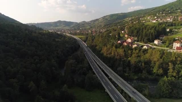 Wide-angle Shot Of Mountainous Landscape: Stock Video
