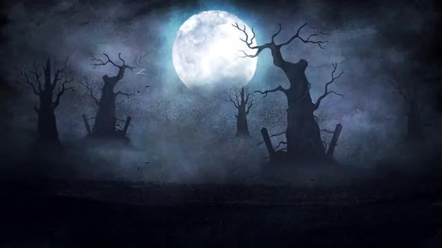 Halloween Night 4K: Stock Motion Graphics