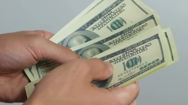 Man Counting Money: Stock Video
