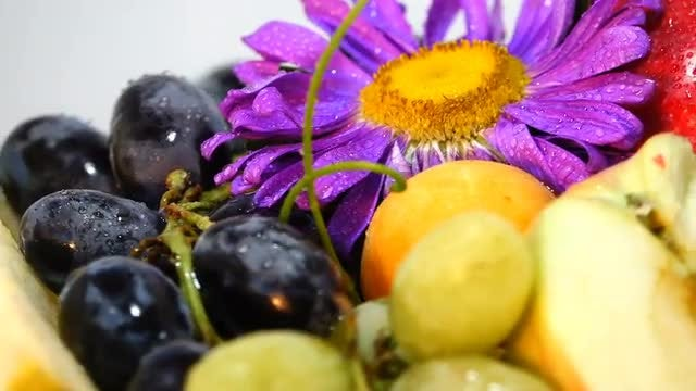 Composition Of Fruits On Table: Stock Video