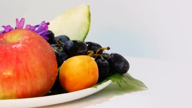Rotating Fruit Platter: Stock Video