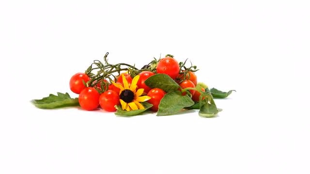 Decorative Small Tomatoes: Stock Video