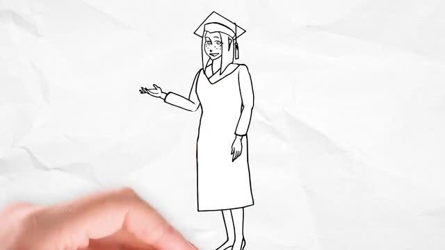 Doodle Animation - Student Character: After Effects Templates