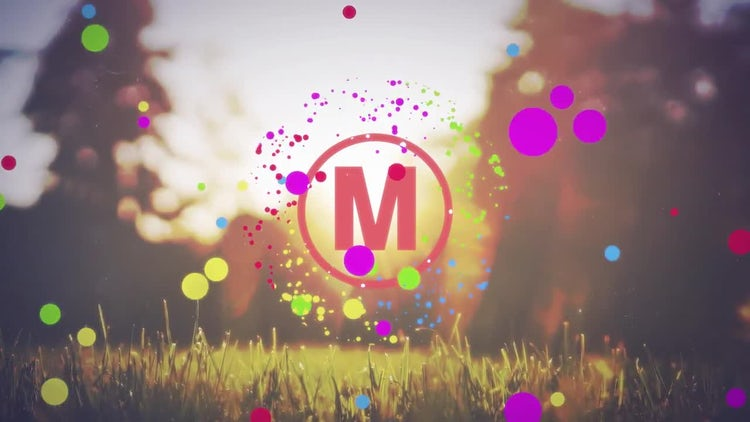 Colored Flat Logo Reveal: After Effects Templates