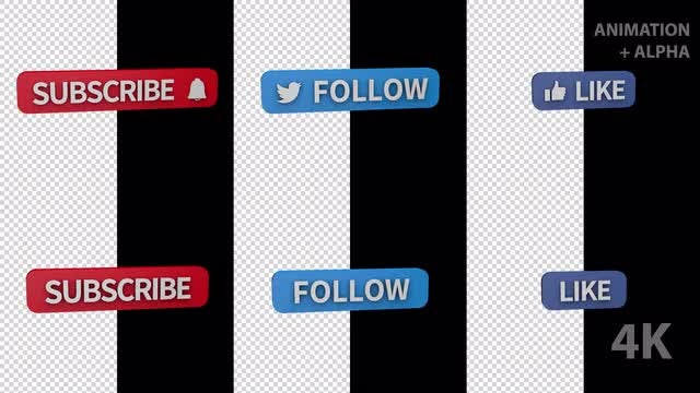 3D Call to Action Buttons: Stock Motion Graphics