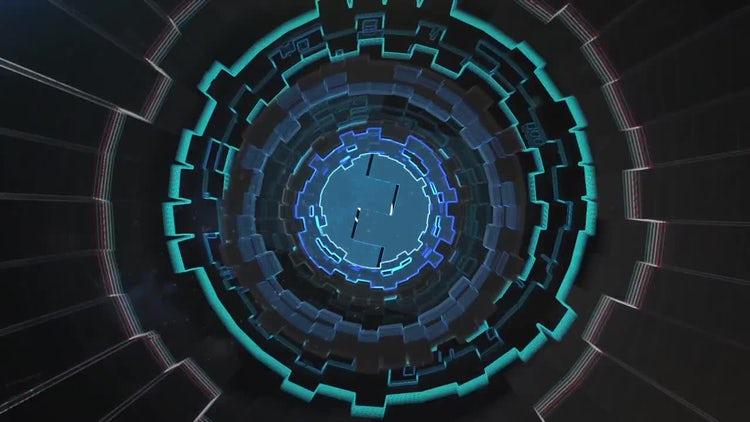 3D Tech Tunnel Logo: After Effects Templates