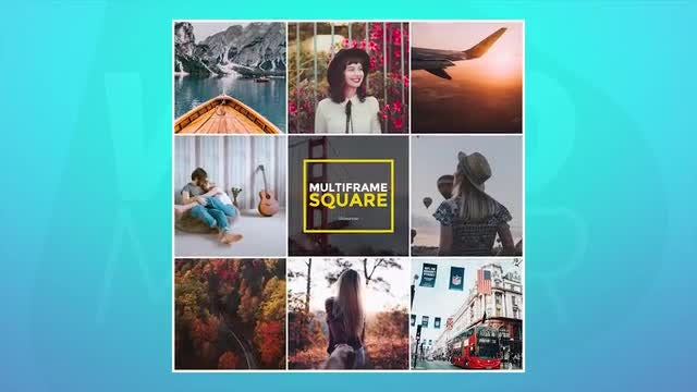 Multiframe Square Slideshow: Premiere Pro Templates